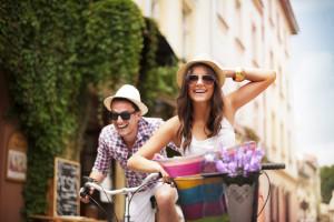 Recorrer en bicicleta